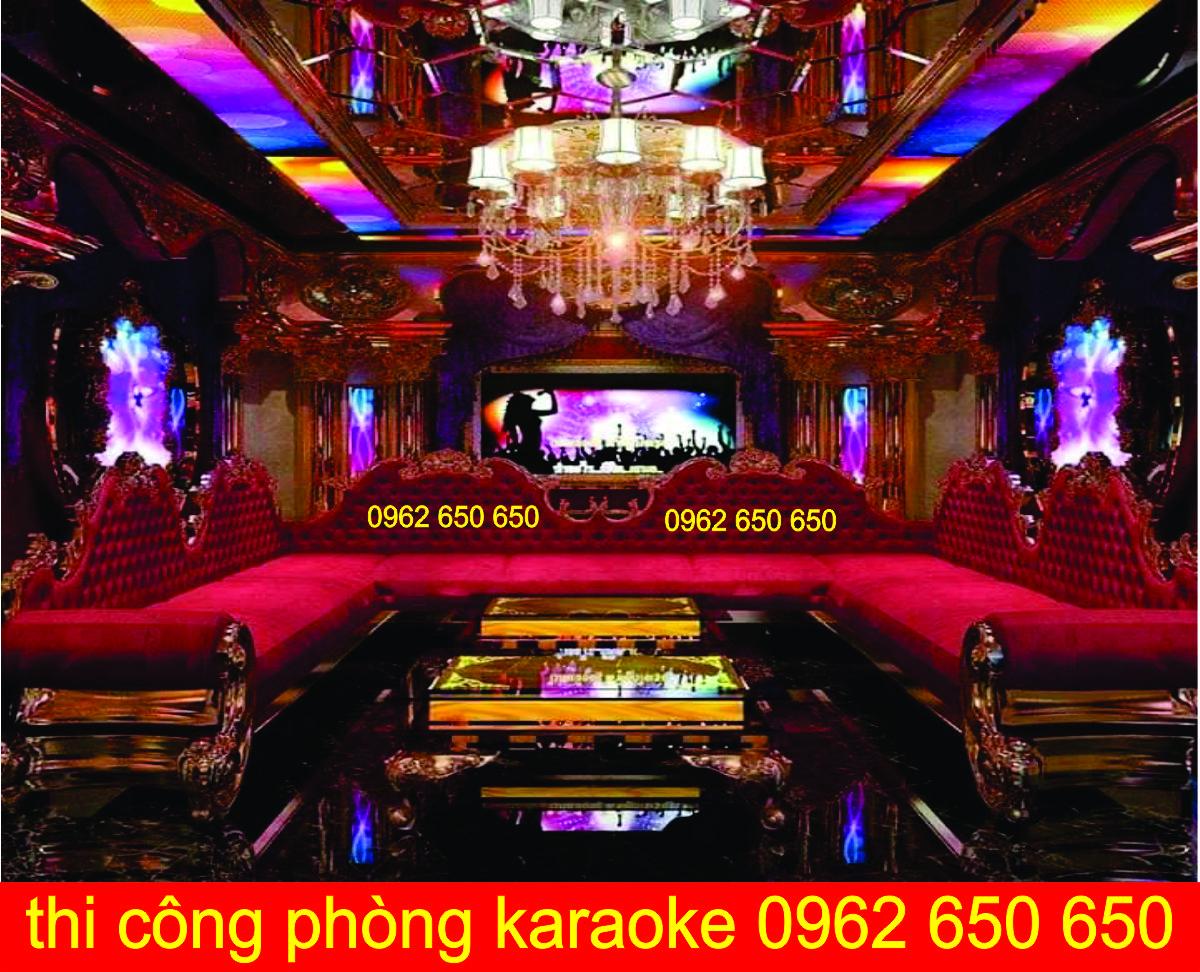 Cung cấp nội thất phòng karaoke thi công thiết kế phòng hát