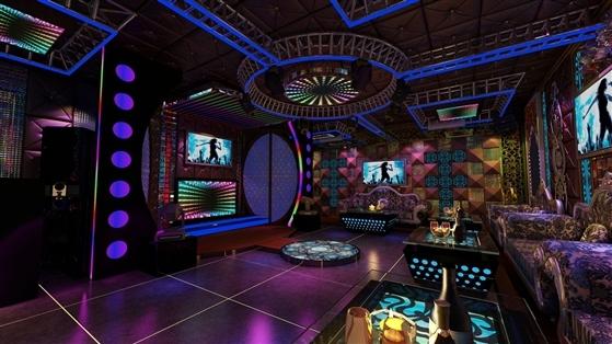 Phòng karaoke led cổ điền kết hợp