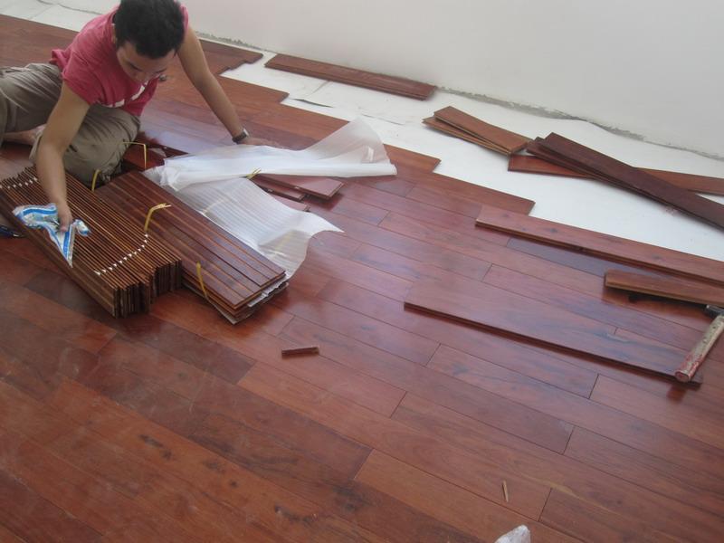 Nhận thi công sàn gỗ tự nhiên